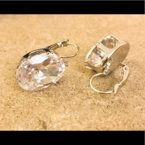 "Jewelry - 1"" Oval Swarovski Buckle Fashion Earrings"